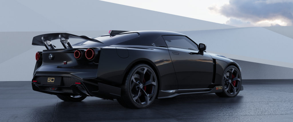 Nissan GT-R50 by Italdesign production rendering Black RR34-source
