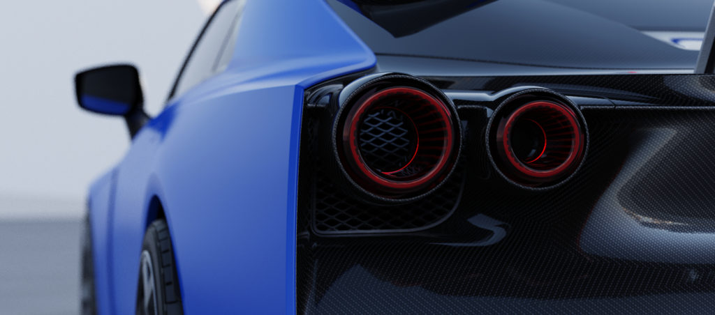 Nissan GT-R50 by Italdesign production rendering Blue RR LAMP-source