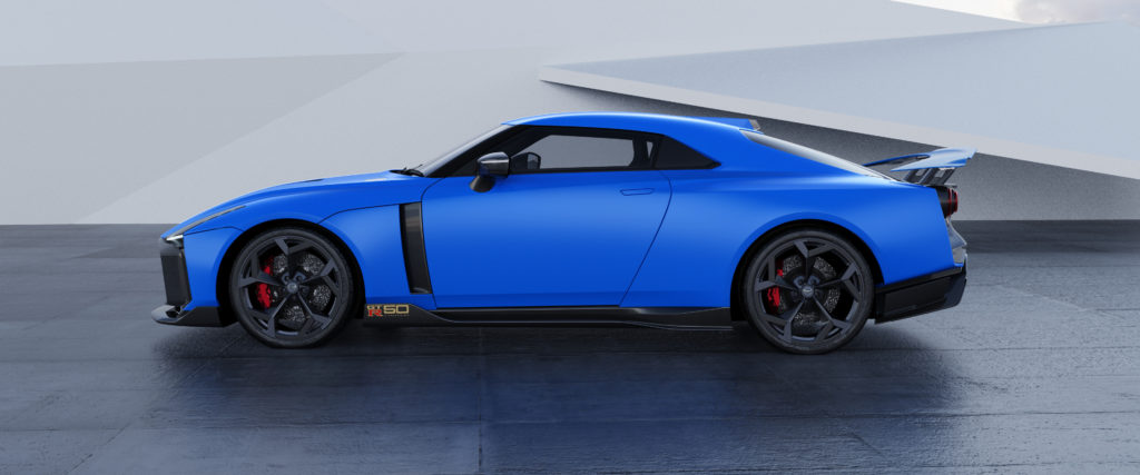 Nissan GT-R50 by Italdesign production rendering Blue SIDE-source