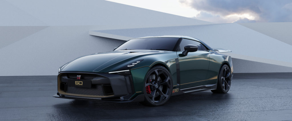 Nissan GT-R50 by Italdesign production rendering Green FR34-source