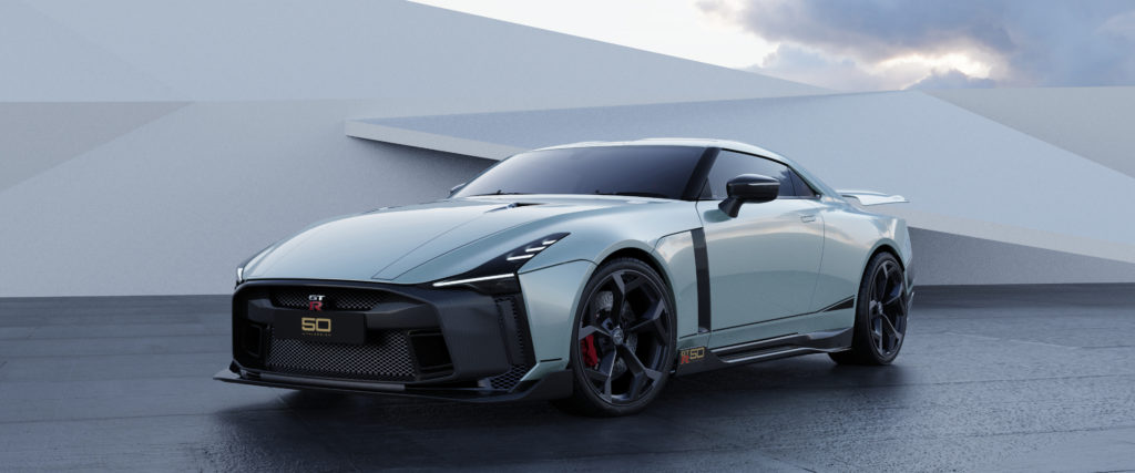 Nissan GT-R50 by Italdesign production rendering Mint FR34-source