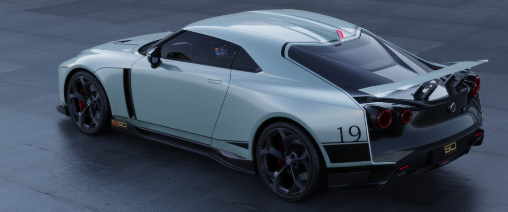 Nissan GT-R50 by Italdesign production rendering Mint RR TOP-source